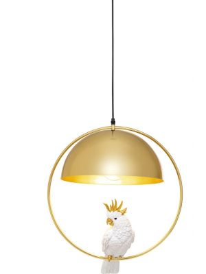 Kare Design Hanglamp Cockatoo 1-Lichts - B45 x D45 x H60 cm - Goudkleurig Metaal