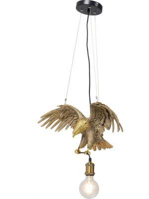 Kare Design Hanglamp Eagle 1-Lichts - B61 x D20 x H30 cm - Goudkleurig