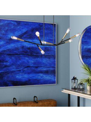 Kare Design Hanglamp Monte Carlo Sette 7 Lichts - Messing