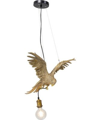 Kare Design Hanglamp Parrot 1-Lichts - B51 x D23 x H55 cm - Goudkleurig