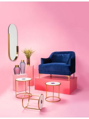 Kare Design Hipster Ovale Spiegel - B50 x H114 cm - Goudkleurig