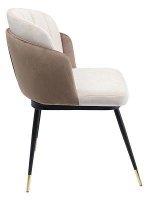 Kare Design Hojas Velvet Stoel - Set van 2 - Beige Fluweel