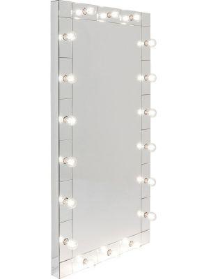 Kare Design Make-Up Staande Spiegel - B80 x D7,5 x H160 cm - Spiegelglas