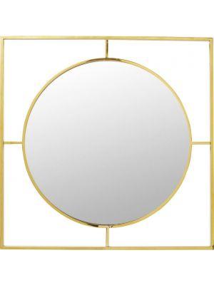 Kare Design Spiegel Stanford Frame Gold -  B90 x D2,5 x H90 cm - Goudkleurig