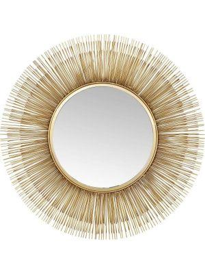 Kare Design Sunburst Spiegel - Ø87cm - Messing