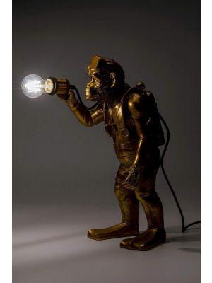 Kare Design Monkey Tafellamp 1-Lichts - B27 x D31 x H49,5 cm - Goudkleurig