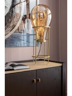 Kare Design Pear Tafellamp 1-Lichts - Hoogte 78 cm - Goudkleurig
