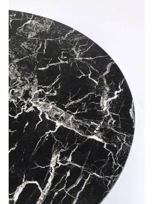 Kare Design Veneto Ronde Eettafel - D110 x H73 cm - Zwart Marmer