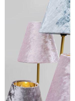 Kare Design Flexible Velvet Cinque Vloerlamp 5-lichts - Fluwelen Lampenkappen - Goudkleurig Metaal