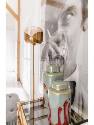 Kare Design Goblet Ball Vloerlamp 1-Lichts - Hoogte 160 cm - Goudkleurig