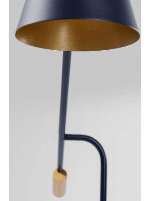 Kare Design Metro Vloerlamp - B92 x D26 x H160 cm - Marmer en Zwart Metaal
