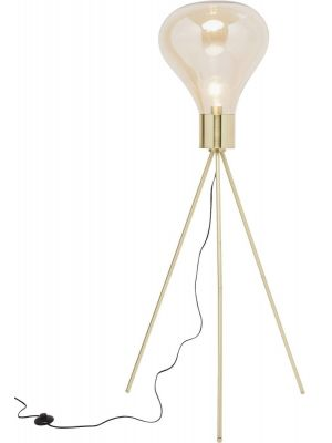 Kare Design Pear Tripod Vloerlamp 1-Lichts - Hoogte 160 cm - Goudkleurig