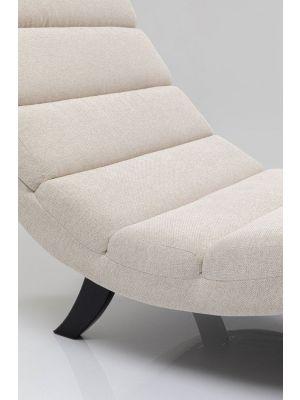 Kare Design Relax Fauteuil Balou - B80 x D190 x H89 cm - Crème Stof