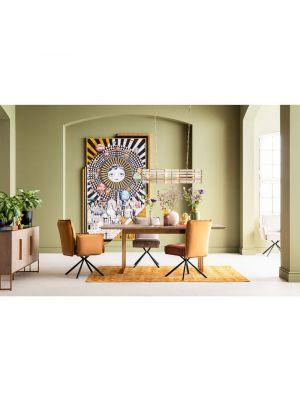 Kare Design Chelsea Stoel - Set van 2 - Velvet Bruin