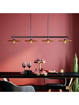 Kare Design Disc Dining Quattro Hanglamp 4-Lichts - Ø22 cm - Messing