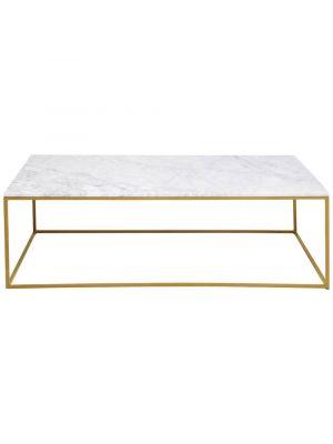 Kare Design Key West Gold Salontafel - B120 x D60 x H40 cm - Marmer/Metaal