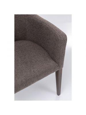 Kare Design Mode Dolce Stoel met Armleuningen - Stof Bruin