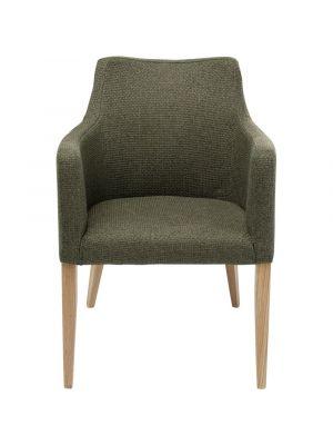 Kare Design Mode Dolce Stoel met Armleuningen - Stof Groen