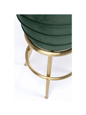 Kare Design Treviso Barkruk - Ø48 x H74 cm - Velvet Groen