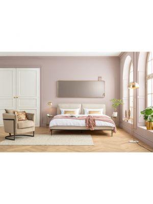 Kare Design Wandspiegel Curve Rechthoekig - B70 x H200cm - Messing