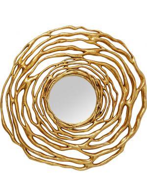 Kare Design Wandspiegel Twiggy - Ø121cm - Goud