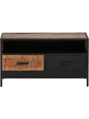 24Designs Fabrique TV-meubel - B100 x D42 x H55 cm - Mangohout - Metaal
