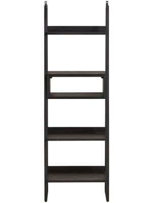 24Designs Rafael Boekenkast - B60 x D40 x H180 cm - Acaciahout - Metaal Zwart