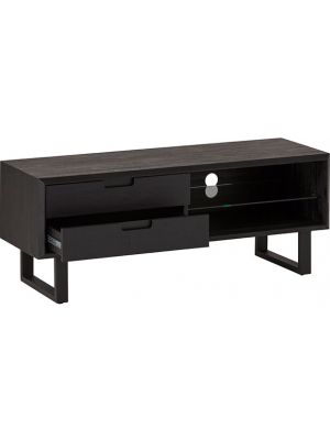24Designs Rafael TV-meubel - B130 x D45 x H50 cm - Acaciahout - Metaal Zwart