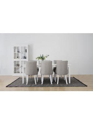 Rowico Koster Verlengbare Eettafel - Wit Tafelblad - L200/300 x B100 x H76 cm