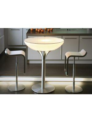 Lounge 105 Verlichte Bartafel Indoor - Wit