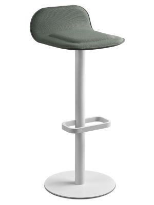 Moree Dave Barkruk - Zithoogte 78 cm - Stof Groen - Mat Wit Onderstel