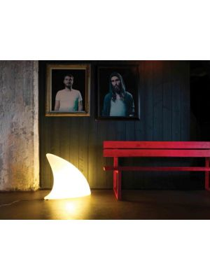 Moree Shark Indoor Vloerlamp - L70 x B19,5 x H65 cm - Wit