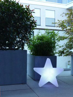 Moree Star LED Wandlamp voor Buiten - L55 x B57 cm - Wit