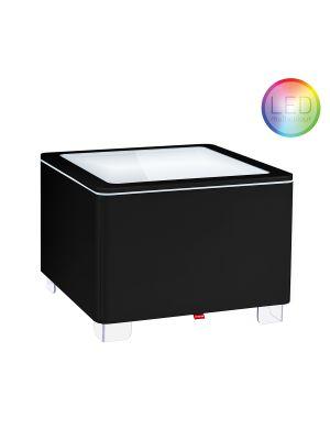 Moree Ora LED Salontafel met Accu - L60 x B60 cm - Zwart