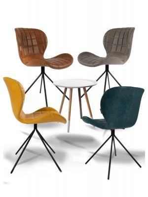 Zuiver Stoel OMG Kunstleer - 8 stoelen Mix aanbieding + Gratis bijzettafel t.w.v. € 79,-
