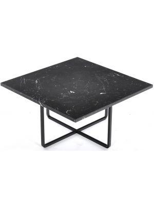 OxDenmarq Salontafel Ninety - L60 x B60 x H30 - Zwart Onderstel - Zwart Marmer