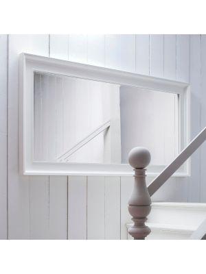 Novasolo Halifax Grote spiegel - H100 cm x B200 cm x D6.5 cm - Wit