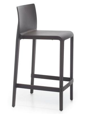 Pedrali Stapelbare Barkruk Volt 678 Set van 2 - Zithoogte 76 cm - Zwart