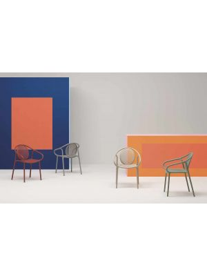 Pedrali Remind 3735 Tuinstoel & Terrasstoel - Set van 4 - Zandkleur Kunststof