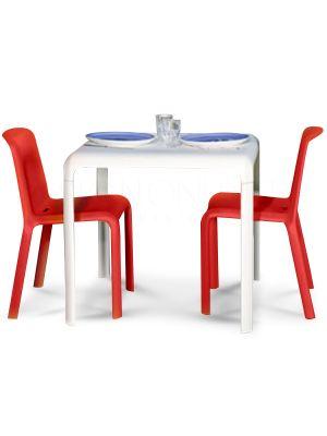 Pedrali Snow 301 Junior Vierkante Kindertafel 80x80x58 cm - Wit