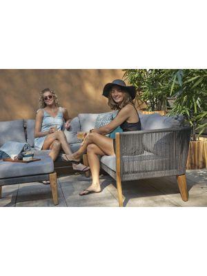 Exotan San Remo 5-persoons Hoek Loungeset - Grijze Kussens