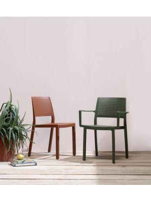 SCAB Emi Stapelbare Stoel Armleuningen - Set van 4 - Terracotta
