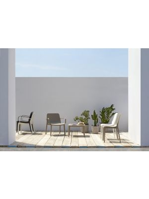 SCAB Ginevra Tuin- & Terrasstoel - Set van 6 - Kunststof - Terracotta