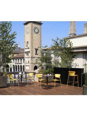 SCAB Lisa Stapelbare Tuin en Terrasstoel - Set van 4 - Mosterdgeel