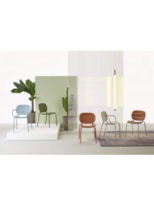 SCAB SI-SI Barcode Tuin en Terrasstoel Armleuning - Set van 2 - Olijfgroen