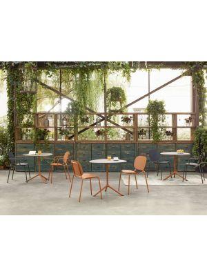 SCAB SI-SI Dots Tuin en Terrasstoel Armleuning - Set van 2 - Terracotta