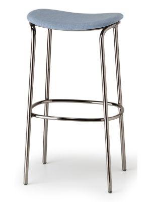 SCAB Trick Counter Barkruk - Zithoogte 65 cm - Stof Lichtblauw - Zwart Metalen Onderstel