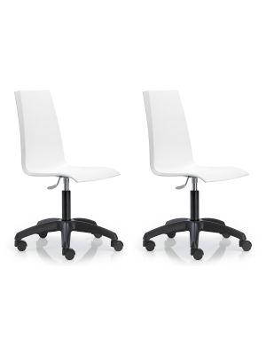 SCAB Mannequin Bureaustoel - Set van 2 - Ivoor Wit
