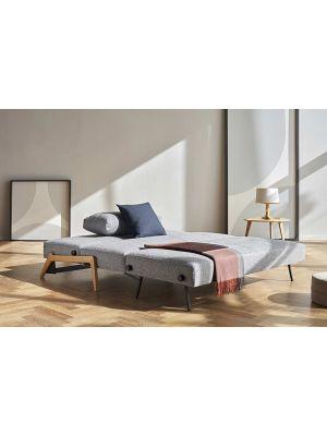 Innovation Cubed 140 Slaapbank - Twist Granite 565 - Eikenhout