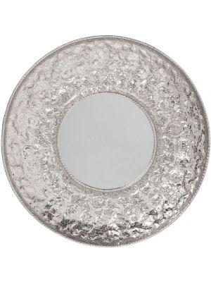 Kare Design - Spiegel Cosmos Flowers XXL Ø110 - Zilverkleurig